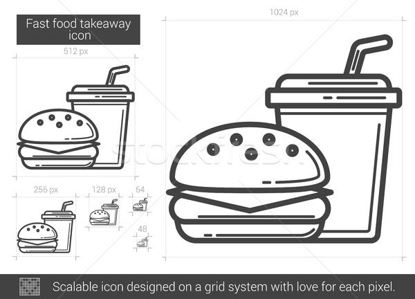 Fast food takeaway line icon. Stock photo © RAStudio