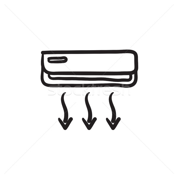 Air conditioner sketch icon. Stock photo © RAStudio