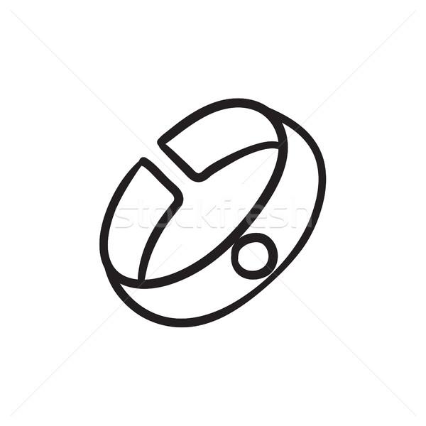 Pulsera boceto icono web móviles infografía Foto stock © RAStudio