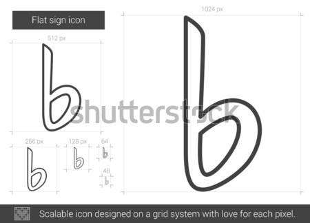 Zenei hang rajz ikon vektor izolált kézzel rajzolt Stock fotó © RAStudio