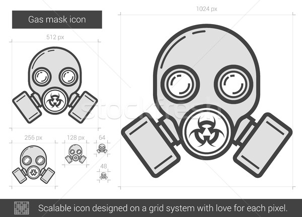 Gas mask line icon. Stock photo © RAStudio