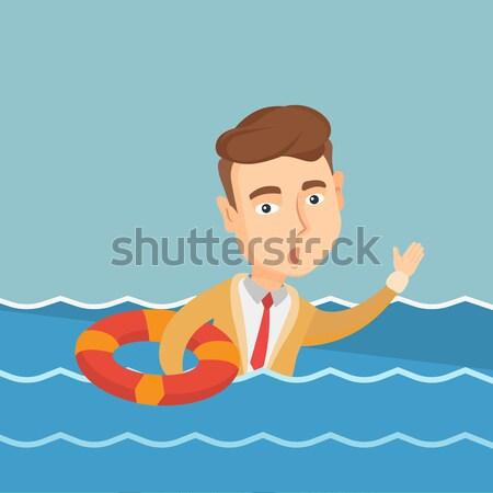 üzletasszony süllyed kérdez segítség ijedt félő Stock fotó © RAStudio