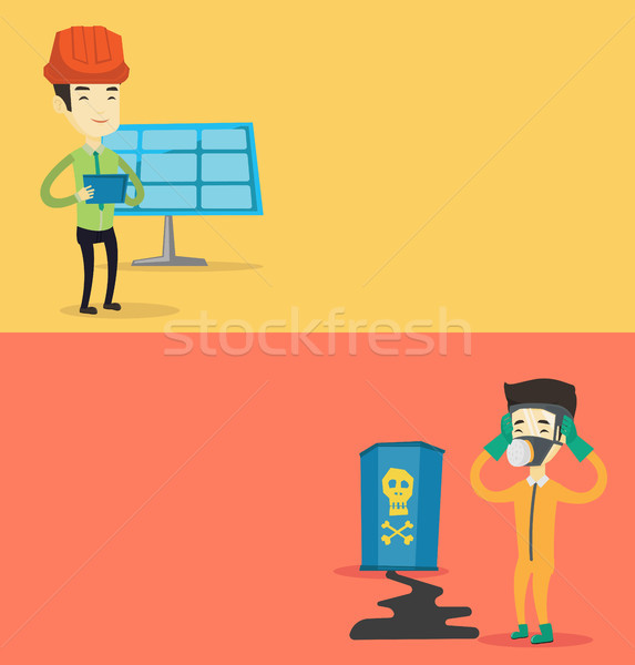 Two ecological banners with space for text. Stock photo © RAStudio