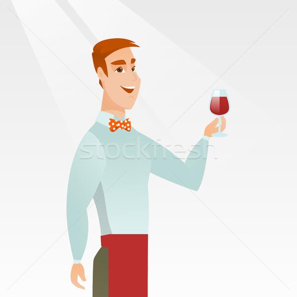 バーテンダー ガラス ワイン 手 小さな ストックフォト © RAStudio