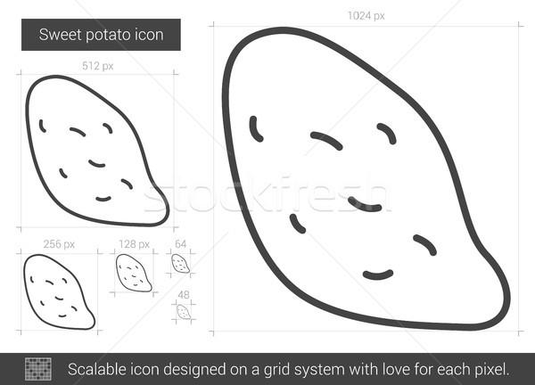 Zoete aardappel lijn icon vector geïsoleerd witte Stockfoto © RAStudio