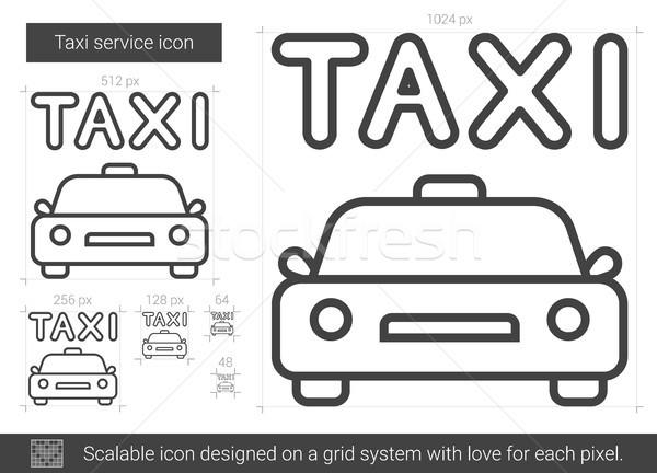 Taxi servicio línea icono vector aislado Foto stock © RAStudio