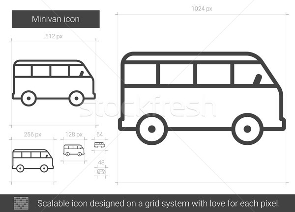 Minivan line icon. Stock photo © RAStudio