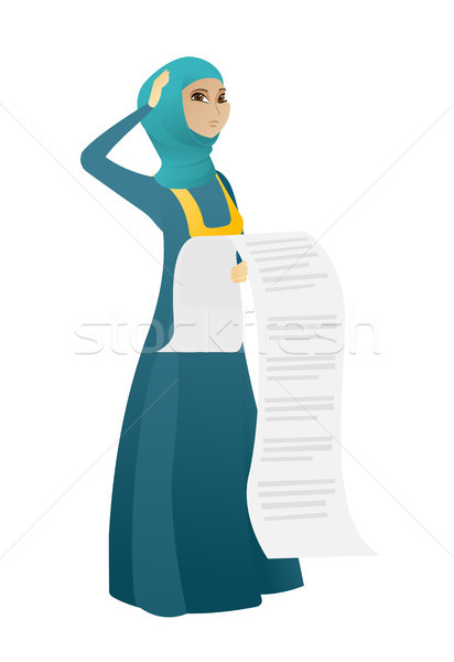 Muzułmanin księgowy długo ustawy stałego Zdjęcia stock © RAStudio