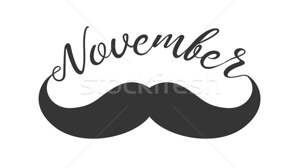 Moustache and hand lettered phrase November. Stock photo © RAStudio