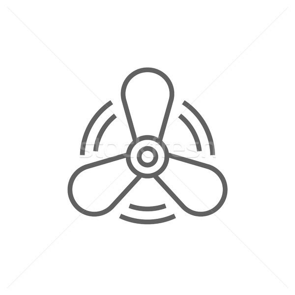 Csónak propeller vonal ikon sarkok háló Stock fotó © RAStudio