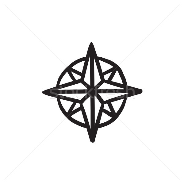 Compass wind rose sketch icon. Stock photo © RAStudio