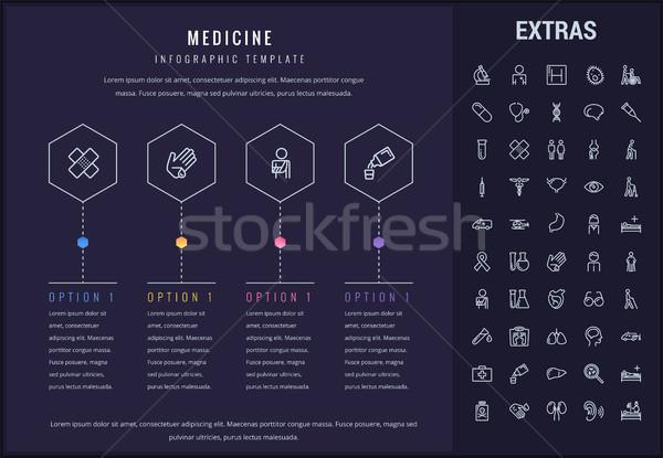 Medicina modelo elementos ícones opções Foto stock © RAStudio