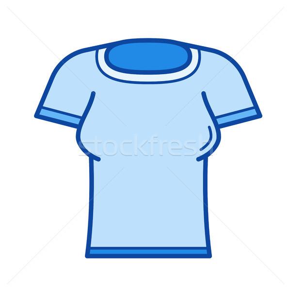 Woman t-shirt line icon. Stock photo © RAStudio
