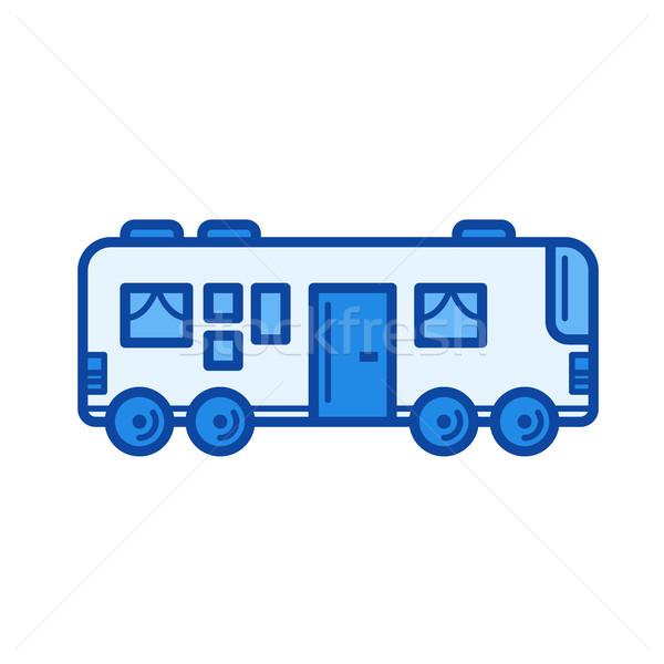 путешествия автобус линия икона вектора изолированный Сток-фото © RAStudio