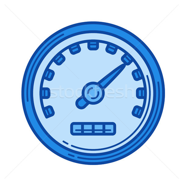 Limite de velocidade linha ícone vetor isolado branco Foto stock © RAStudio