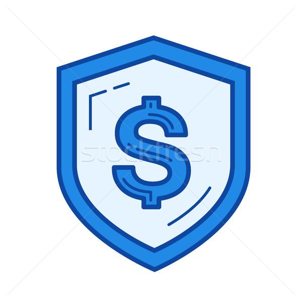 безопасного деньги линия икона вектора изолированный Сток-фото © RAStudio
