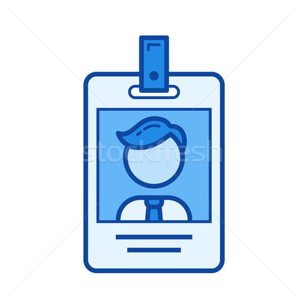 Identificação cartão linha ícone vetor isolado Foto stock © RAStudio