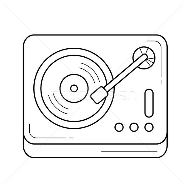 ビニール レコードプレーヤー 行 アイコン ベクトル 孤立した ストックフォト © RAStudio