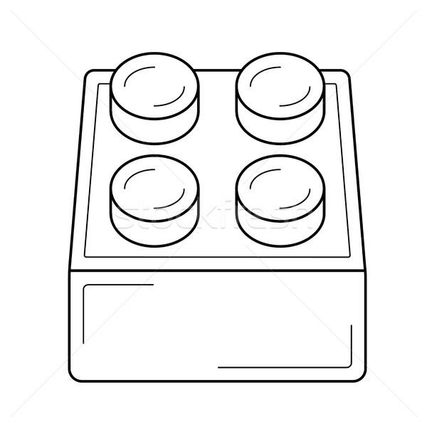 モジュール 行 アイコン ベクトル 孤立した 白 ストックフォト © RAStudio