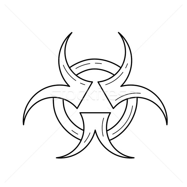 Biohazard vector line icon. Stock photo © RAStudio
