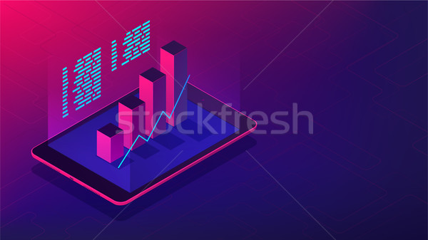 Isometric investment and financial advisory 3d isometric vector illustration Stock photo © RAStudio