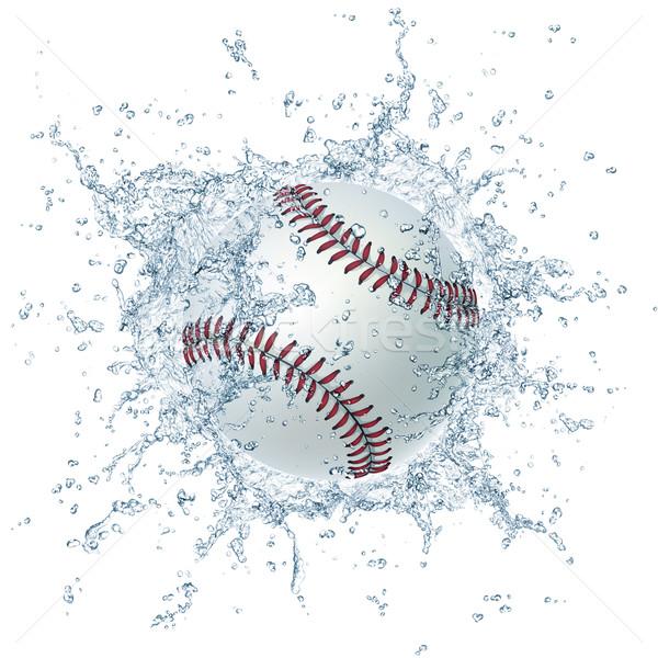 Beisebol bola água isolado branco gráficos Foto stock © RAStudio