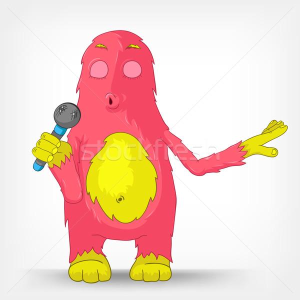 Funny Monster. Singing. Stock photo © RAStudio