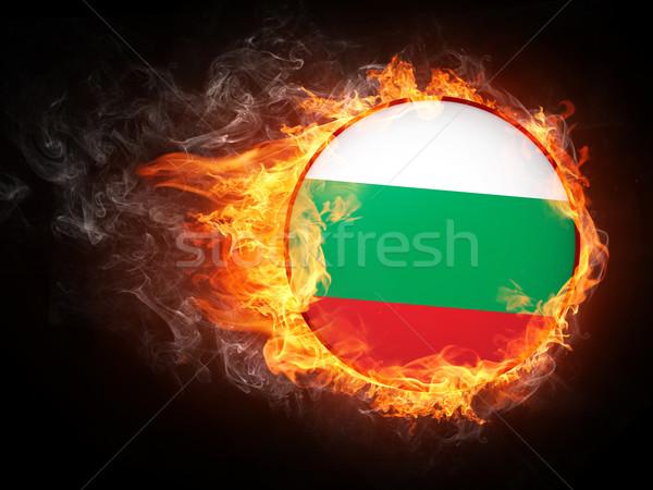 ブルガリア フラグ 火災 コンピューターグラフィックス 星 絵画 ストックフォト © RAStudio