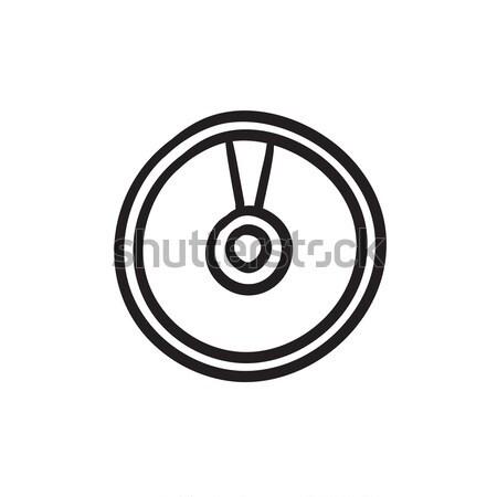 Cd ince hat ikon web hareketli Stok fotoğraf © RAStudio