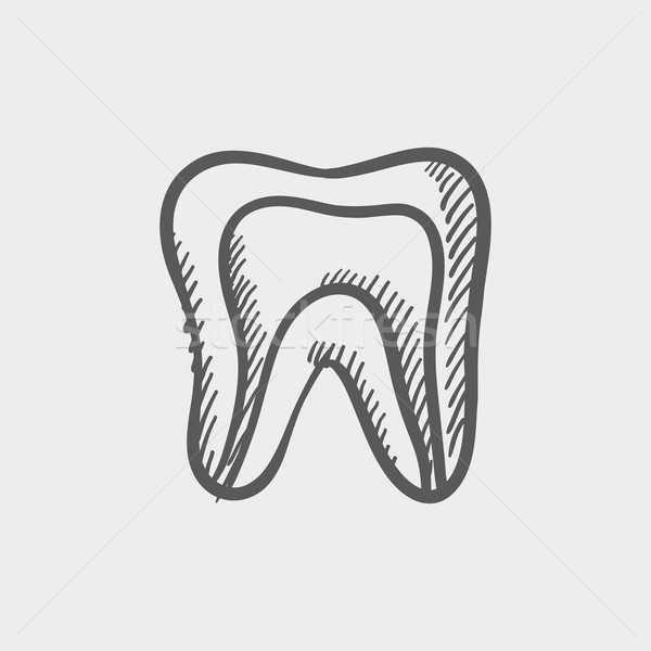 Molar tooth sketch icon Stock photo © RAStudio
