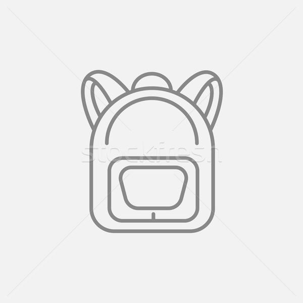 Foto stock: Mochila · línea · icono · web · móviles · infografía