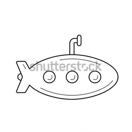 подводная лодка линия икона веб мобильных Инфографика Сток-фото © RAStudio