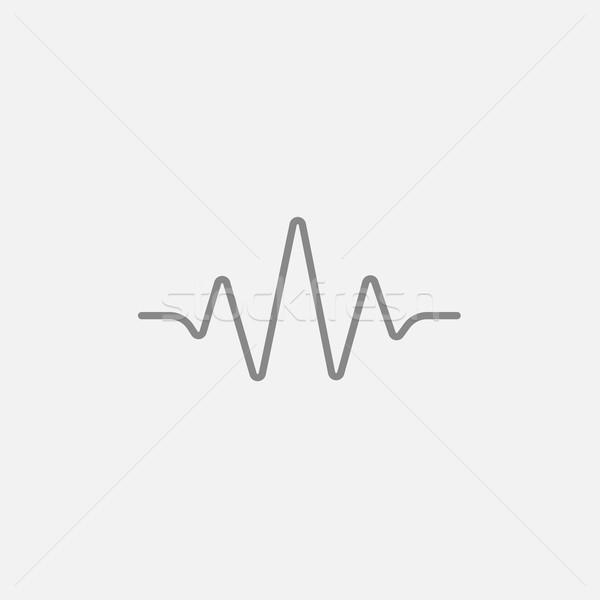 商业照片: 声波 ·线· 图标 · 网页 · 移动 · 信息图表