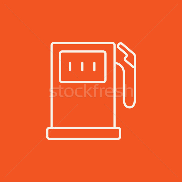 Tankstation lijn icon web mobiele infographics Stockfoto © RAStudio