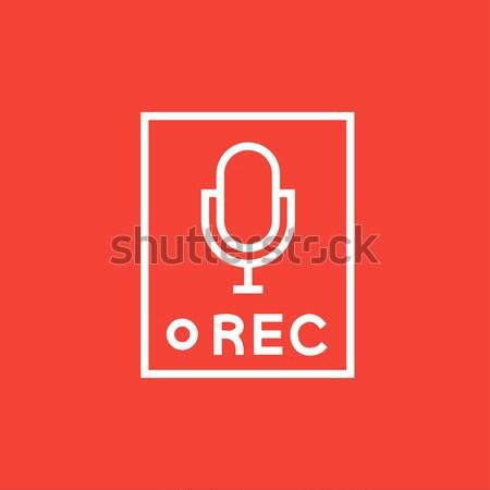 レコード ボタン 行 アイコン ウェブ 携帯 ストックフォト © RAStudio