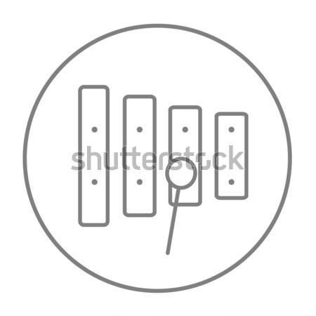 木琴 行 アイコン ウェブ 携帯 インフォグラフィック ストックフォト © RAStudio