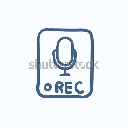 Record button line icon. Stock photo © RAStudio