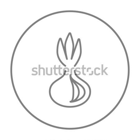 タマネギ 行 アイコン ウェブ 携帯 インフォグラフィック ストックフォト © RAStudio