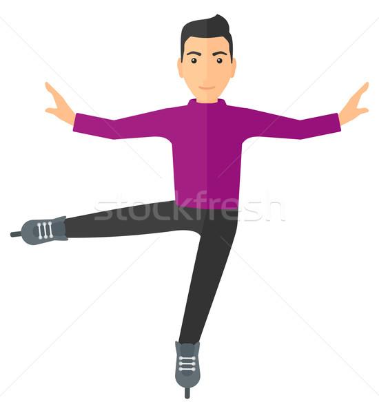 мужчины Рисунок фигурист профессиональных человека Сток-фото © RAStudio