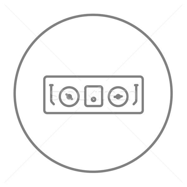 Konzol vonal ikon háló mobil infografika Stock fotó © RAStudio