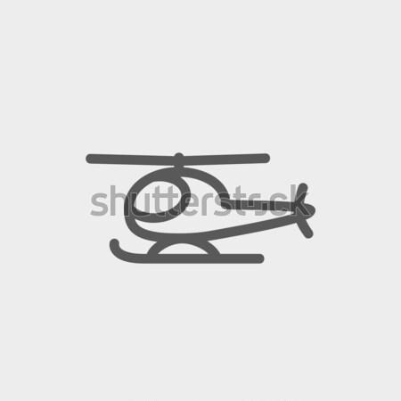 Helicopter line icon. Stock photo © RAStudio