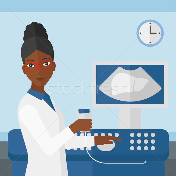 女性 超音波 スペシャリスト 医療 オフィス ストックフォト © RAStudio