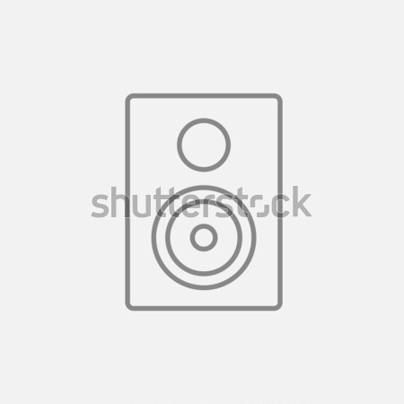 MP3 player line icon. Stock photo © RAStudio