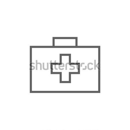 応急処置 キット 行 アイコン コーナー ウェブ ストックフォト © RAStudio