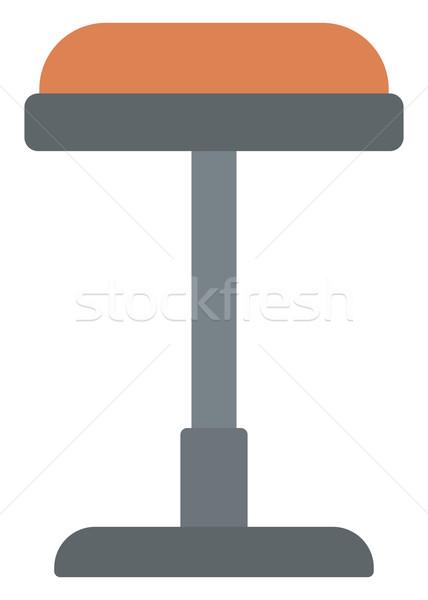 Brown bar stool. Stock photo © RAStudio