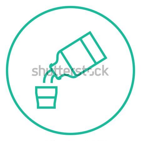 Medicine and measuring cup line icon. Stock photo © RAStudio