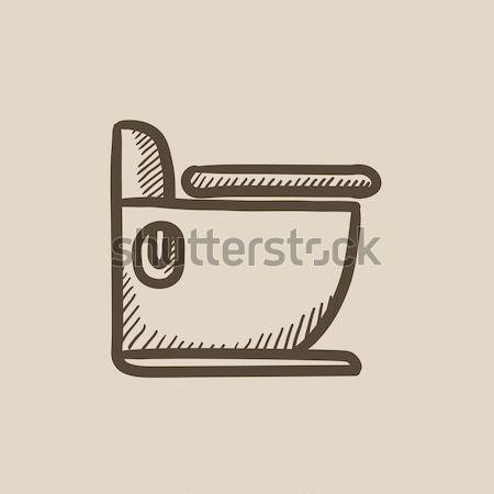 туалет эскиз икона веб мобильных Инфографика Сток-фото © RAStudio