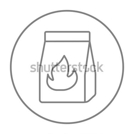 Take-away meals package line icon. Stock photo © RAStudio