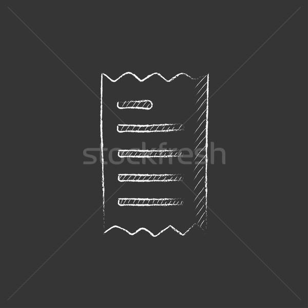 Ricevimento gesso icona vettore Foto d'archivio © RAStudio