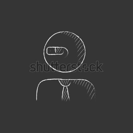 Information sign. Drawn in chalk icon. Stock photo © RAStudio